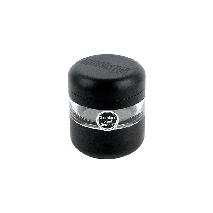 Matte Black Kannastor GR8TR V2 Grinder with Jar Body Canada