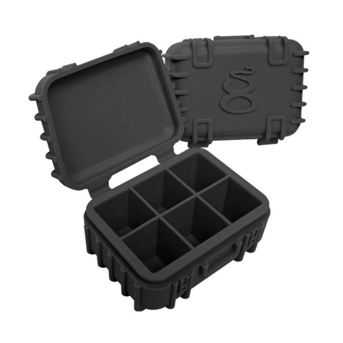 Black Silicone Case with 6 Compartments