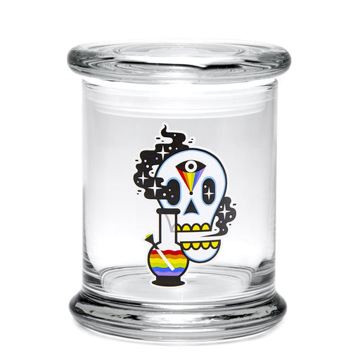 Cosmic Skull 420 Science Glass Storage Jar