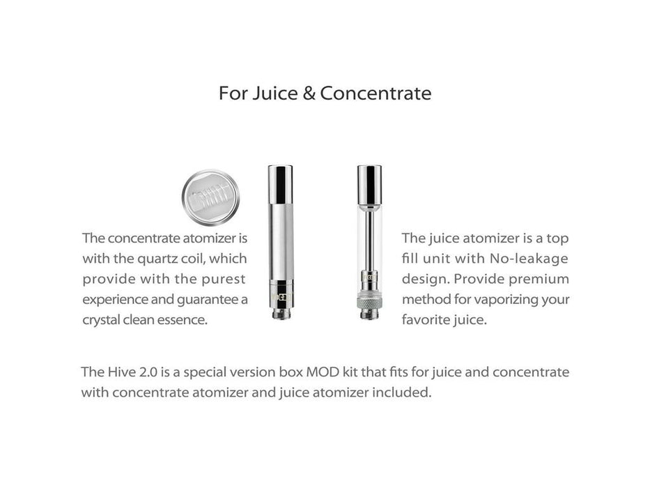 Yocan Hive 2.0 Type of Tanks