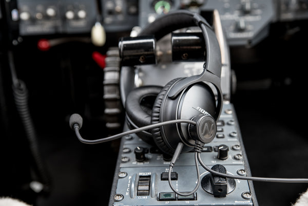 NFlightMic with Bose QC35 in Citation
