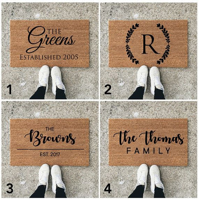 Personalized Doormat (Choose your color paint)