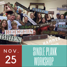 11/25/2017 (6:30pm) Single Plank Workshop (Ocala)
