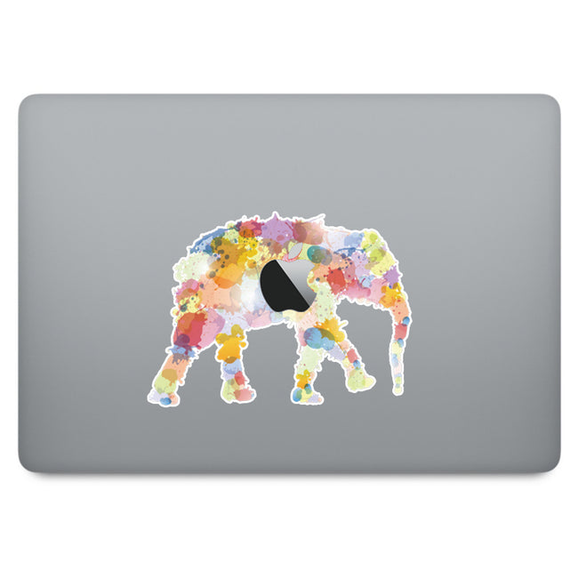 Colourful Elephant MacBook Decal