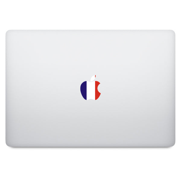 France Flag Apple Logo MacBook Decal