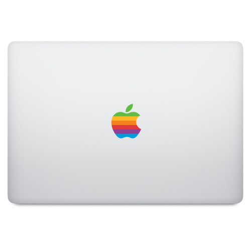 Retro Rainbow Apple Logo MacBook Decal