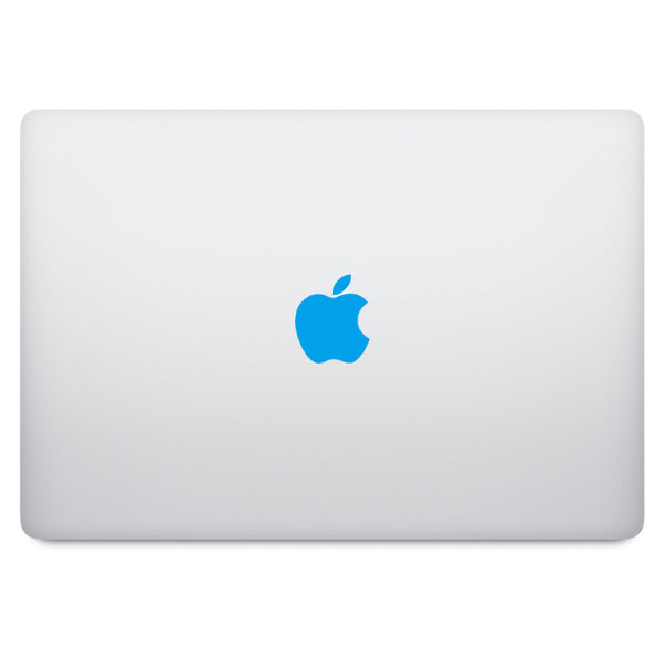 Blue Apple Logo MacBook Decal