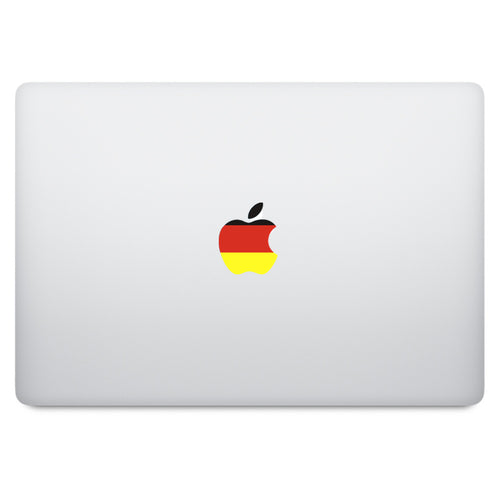 Germany Flag Apple Logo MacBook Decal