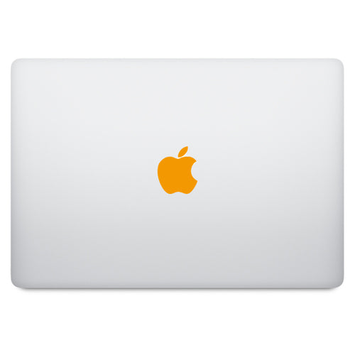 Orange Apple Logo MacBook Decal