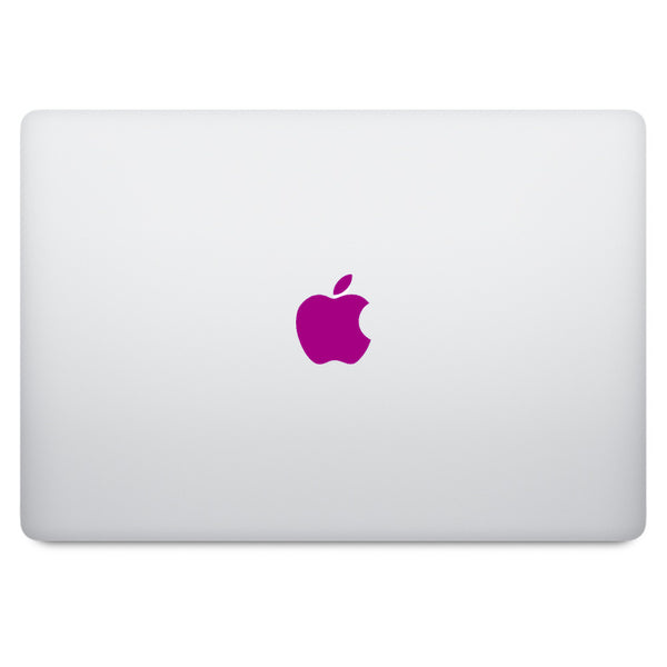 Purple Apple Logo MacBook Decal