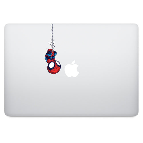 Cute Superheroes Spiderman MacBook Decal