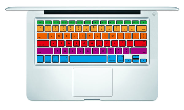 Rainbow Stripe MacBook Keyboard Decal
