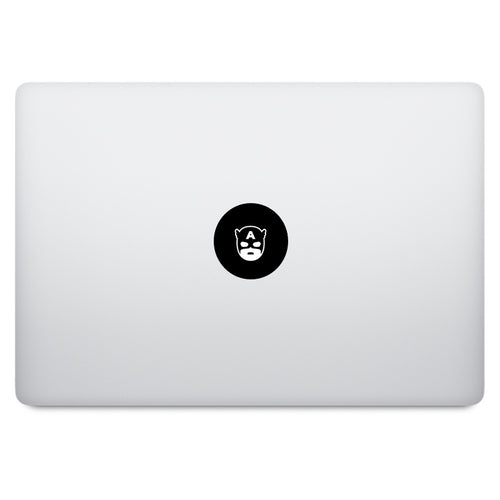 Superhero Captain America MacBook Decal