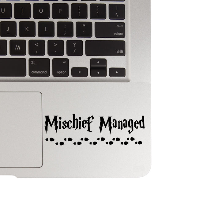 Harry Potter Mischief Managed MacBook Palm Rest Decal