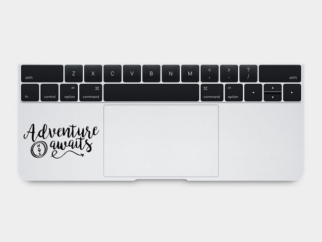 Adventure Awaits Quote MacBook Palm Rest Decal