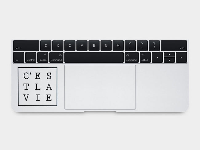 C'est La Vie Quote MacBook Palm Rest Decal