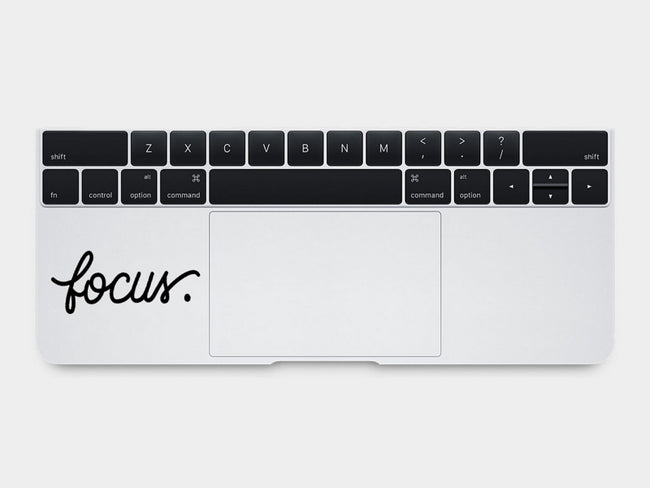 Focus MacBook Palm Rest Decal