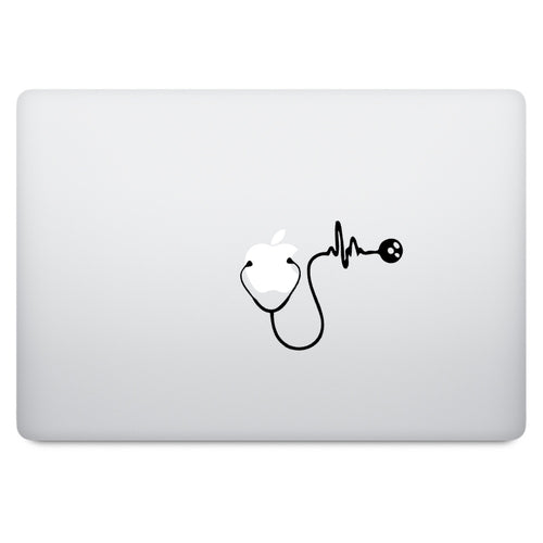 Stethoscope Heartbeat MacBook Palm Rest Decal