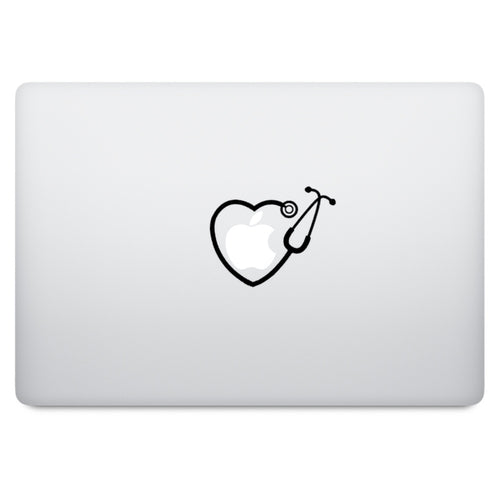 Stethoscope Heart MacBook Palm Rest Decal