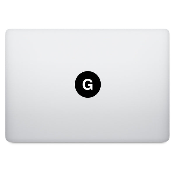 Alphabet A-Z MacBook Decal
