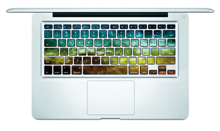 Nebula (Yellow) MacBook Keyboard Decal