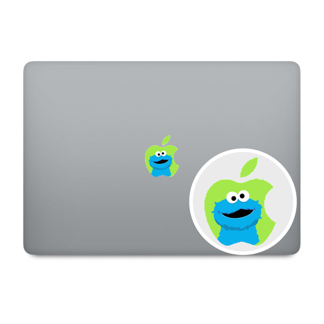 Cookie Monster Apple Logo MacBook Decal