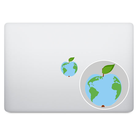 Green Apple Logo MacBook Decal