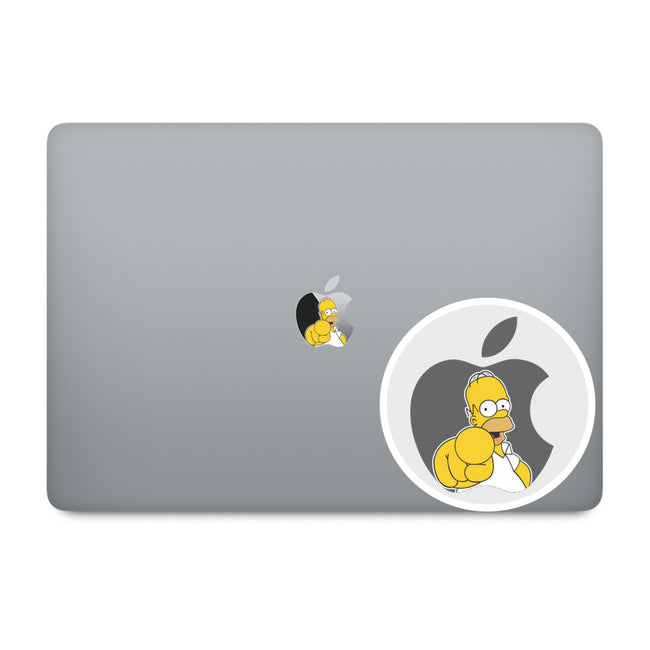 Homer Apple Logo MacBook Decal