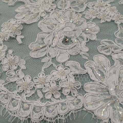 Beaded/Embroidered Lace Fabrics