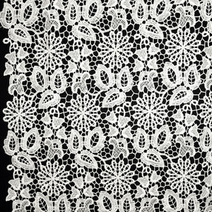 Floral Guipure Lace - White