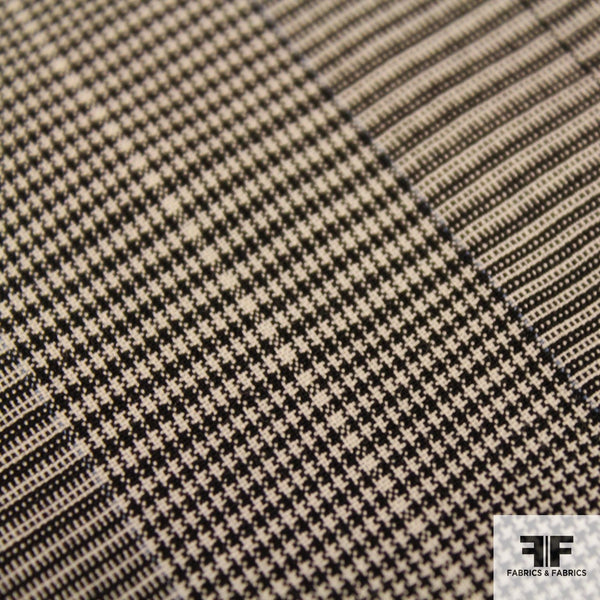 Houndstooth Wool Suiting - Black/White