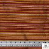 Yarn Died Silk Stripe - Red/Orange/Yellow