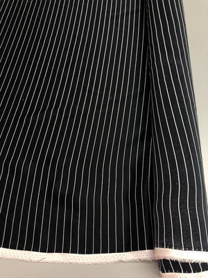 Striped Silk Charmeuse - Black And White