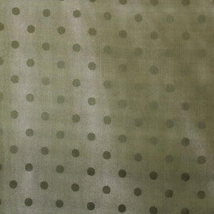Polka Dot Printed Silk Gazar - Green