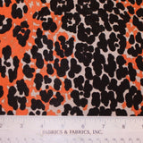 Cheetah Print Printed Knit - Orange/Black/Grey - Fabrics & Fabrics NY