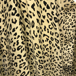 Cheetah Print Silk Georgette - Black/Tan - Fabrics & Fabrics
