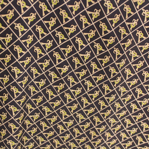 Graphic Sailor Silk Twill - Navy