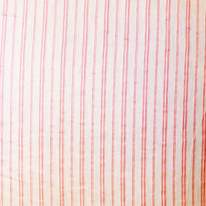 Striped Woven Italian Cotton - White/Pink