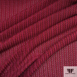 Textured Poly Knit - Maroon
