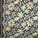 Floral Chantilly Lace - Multicolor Pastel