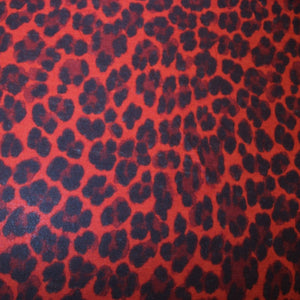 Cheetah Printed Knit - Red/Black - Fabrics & Fabrics NY