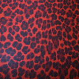 Cheetah Printed Knit - Red/Black