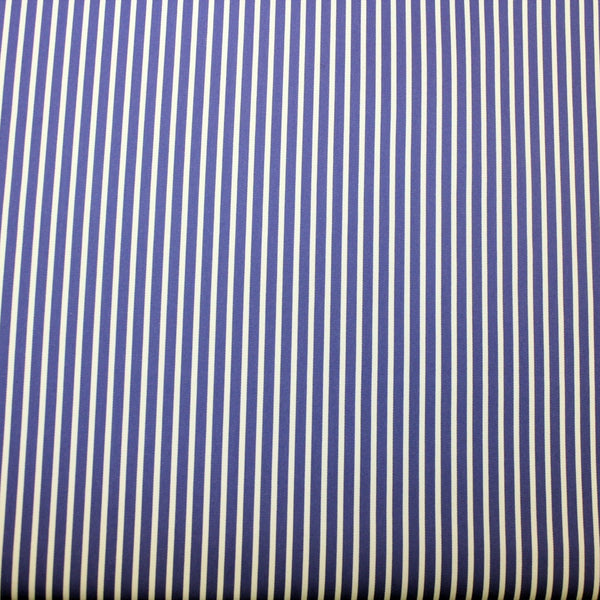 Striped Cotton Shirting -Blue/White