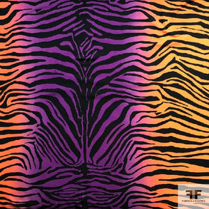 Tiger Stripe Ombre Jersey - Orange/Purple