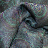 Paisley Printed Metallic Lamé - Multicolor