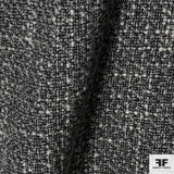 Wool Tweed - Black/Ivory