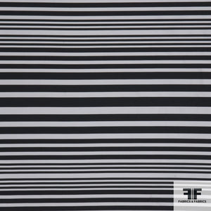 Yarn Died Silk Stripe - Black/White