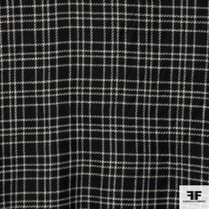 Classic Plaid Tweed - Black/White - Fabrics & Fabrics NY