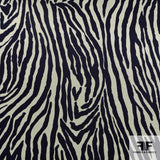Zebra Printed Silk Chiffon - Black/Green