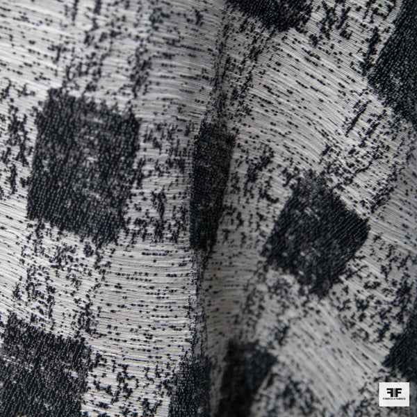 Checkered Novelty - Black/Ivory - Fabrics & Fabrics NY